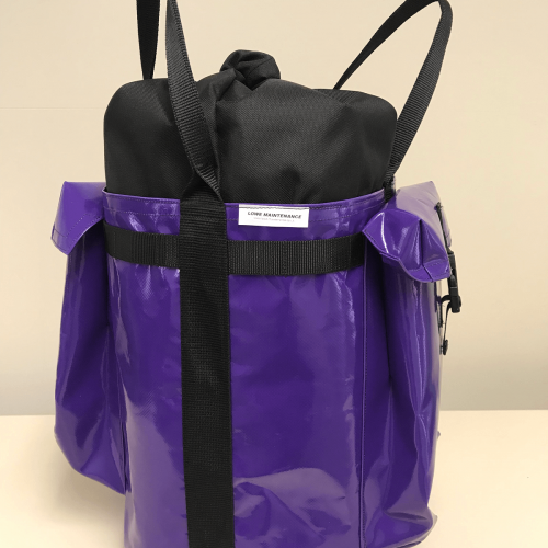 Lowe Maintenance Purple Small Rope Bag a