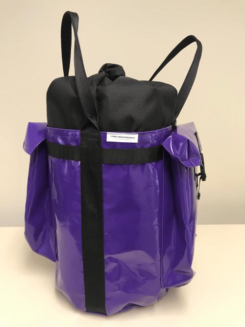 Lowe Maintenance Purple Small Rope Bag a