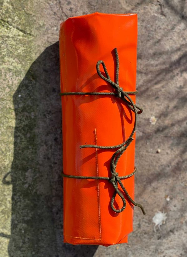 Tool roll for chainsaw sharpening tools, individual pockets for each tool. Tidy and easy to carry.