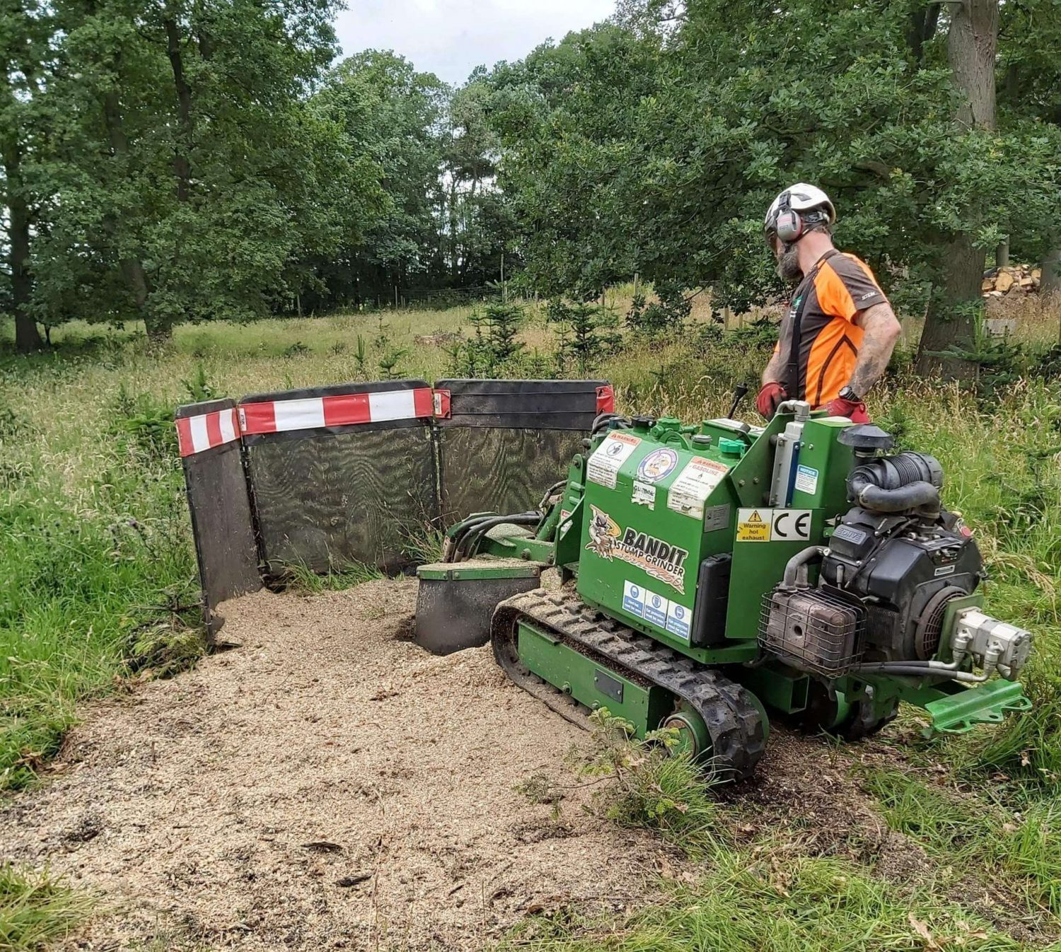 Lowe Maintenance Stump Grinder training course North Yorkshire