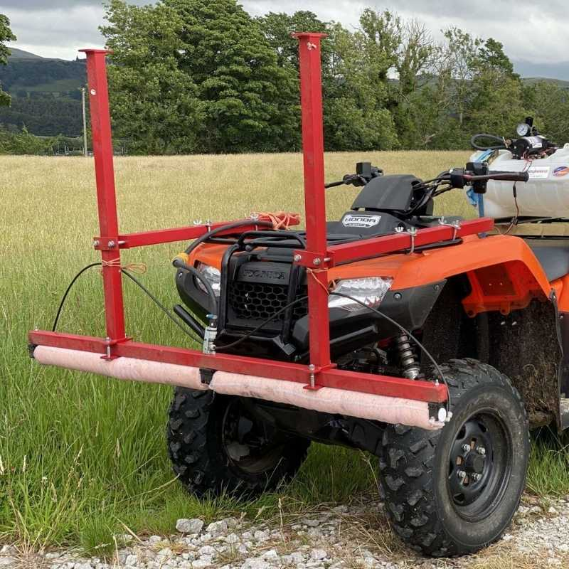 Safe use of a weed wiper on an ATV quad bike during a PA2f course with Lowe Maintenance in North Yorkshire