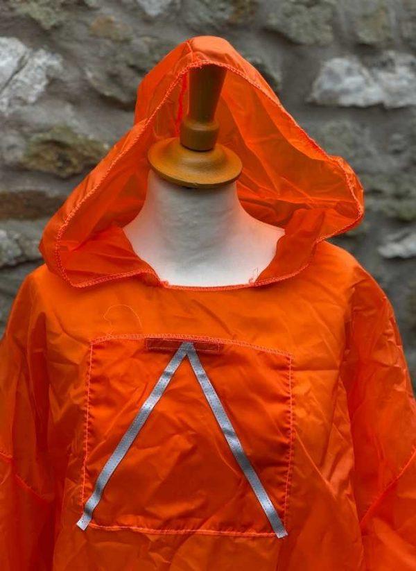 Para top Orange with reflective - hood view