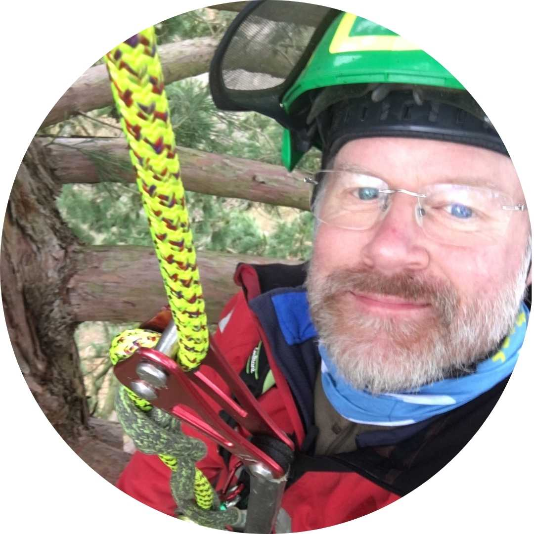 Simon Herbert City and Guilds Assessor for Chainsaw and Tree Climbing with Lowe Maintenance